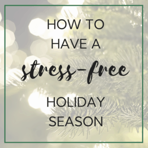 stress-free holiday