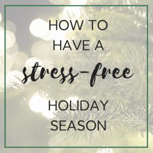 stress-free holiday
