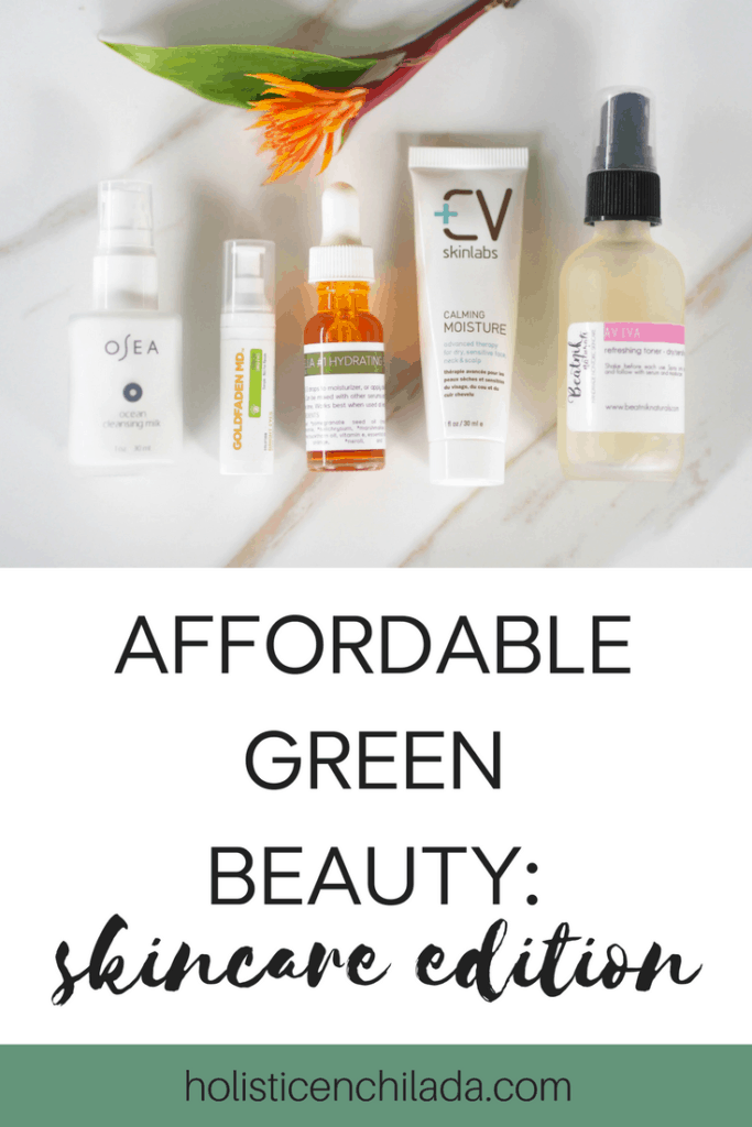 affordable green beauty skincare