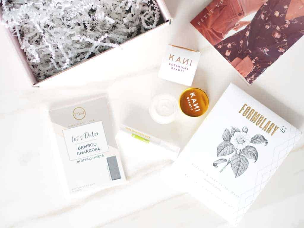 Petit Vour Beauty Box items that came in subscription box