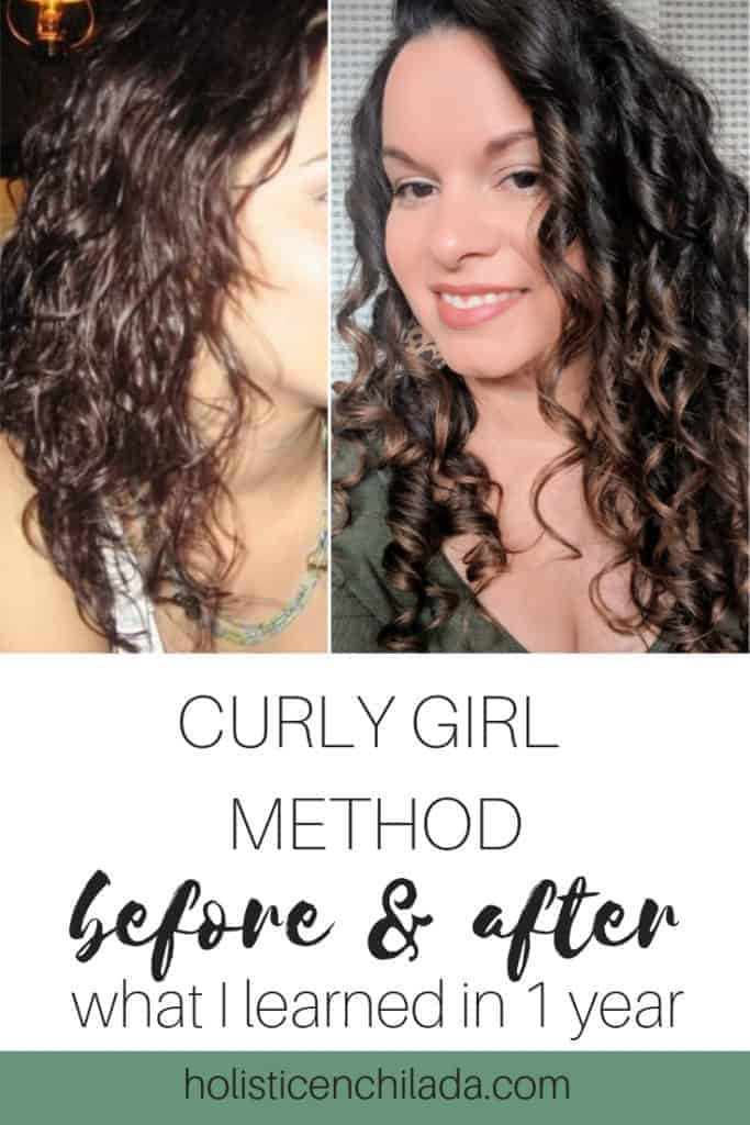curly girl method before and after 1 year