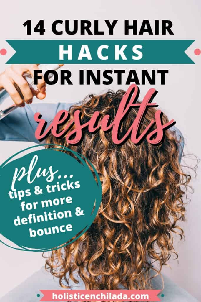 14 curly hair hacks for instant results pin