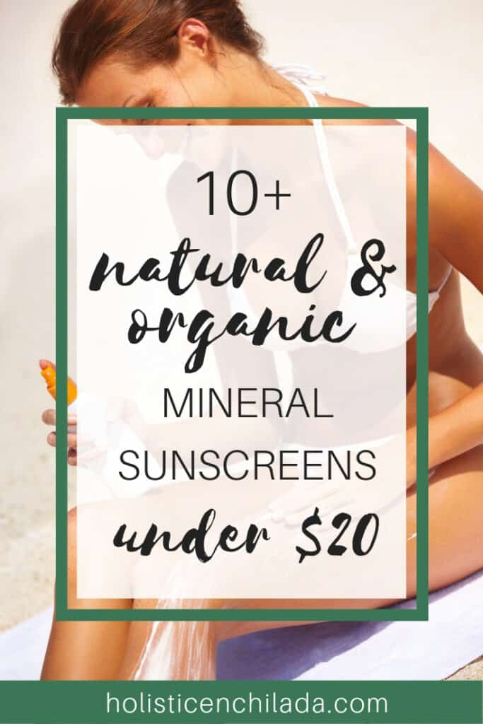 natural and organic mineral sunscreen