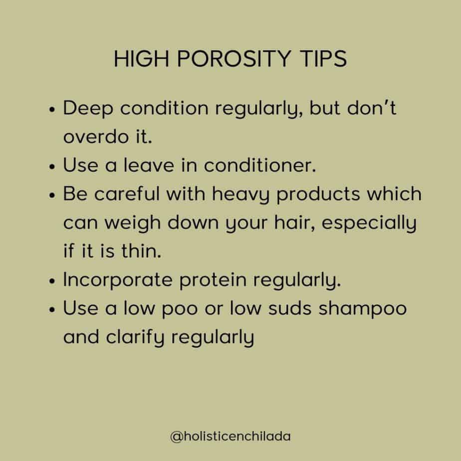 high porosity hair tips