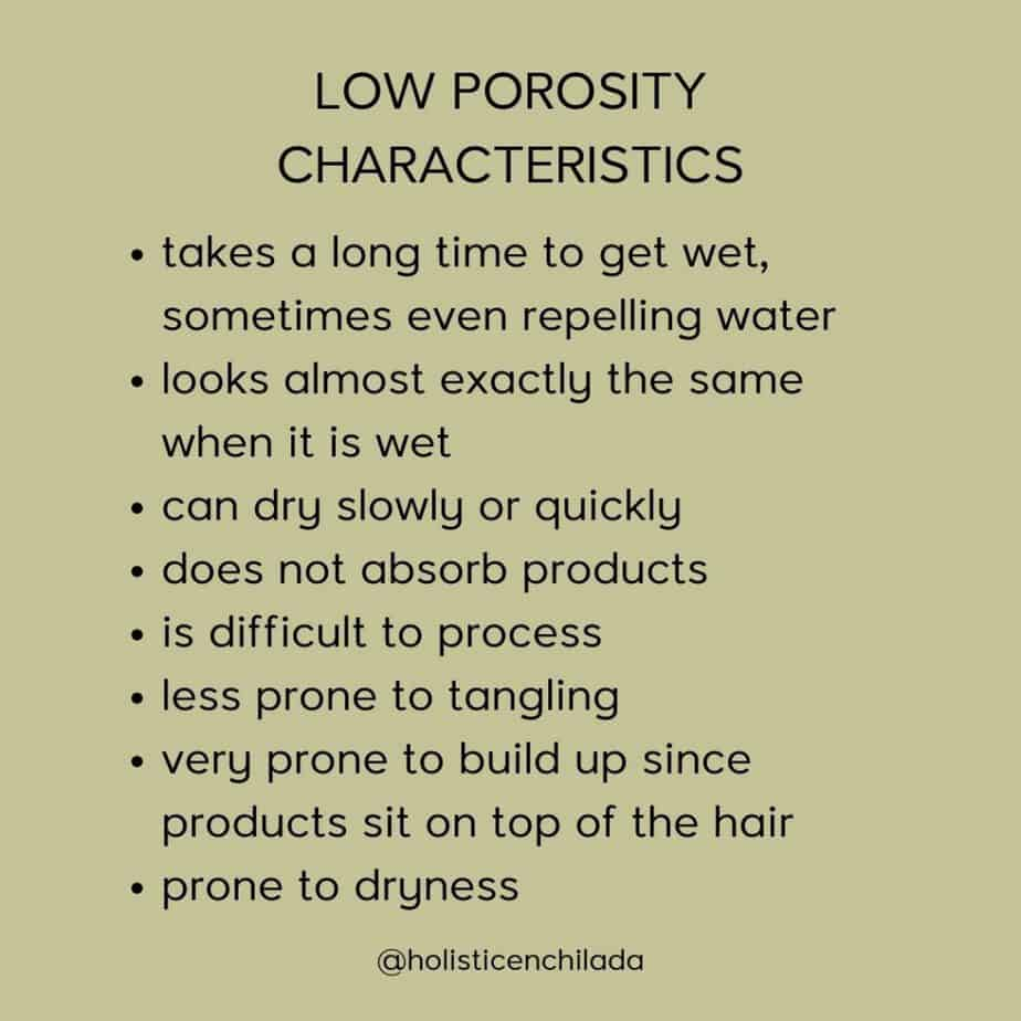 low porosity characteristics