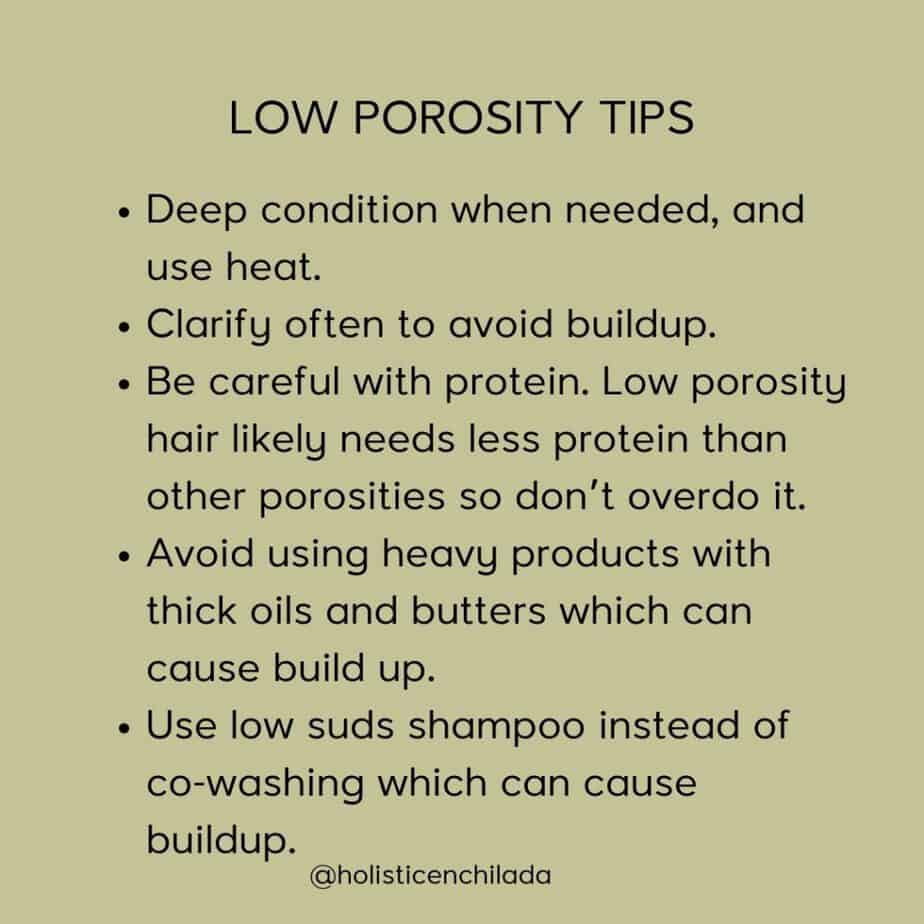 low porosity hair tips