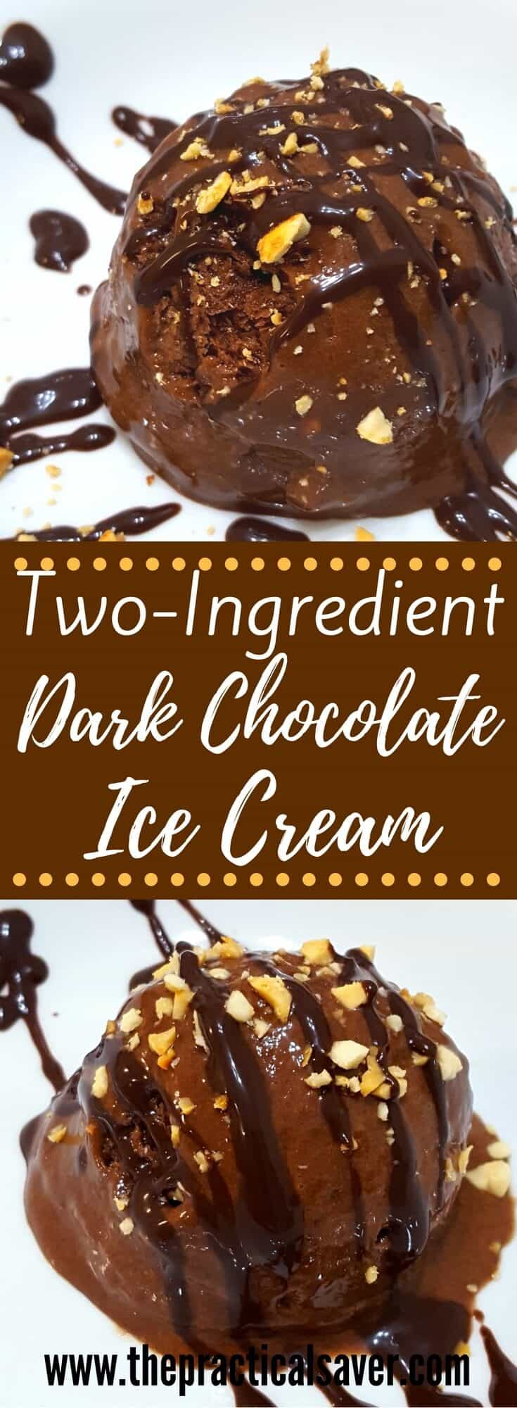 Two-Ingredient Dark Chocolate Ice Cream