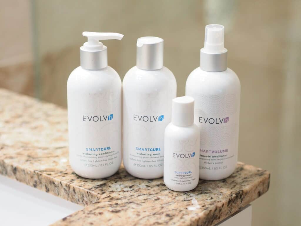 EVOLVh organic curly hair care