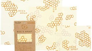 Bee's Wrap Assorted 3 Pack, Eco Friendly Reusable Beeswax Food Wraps
