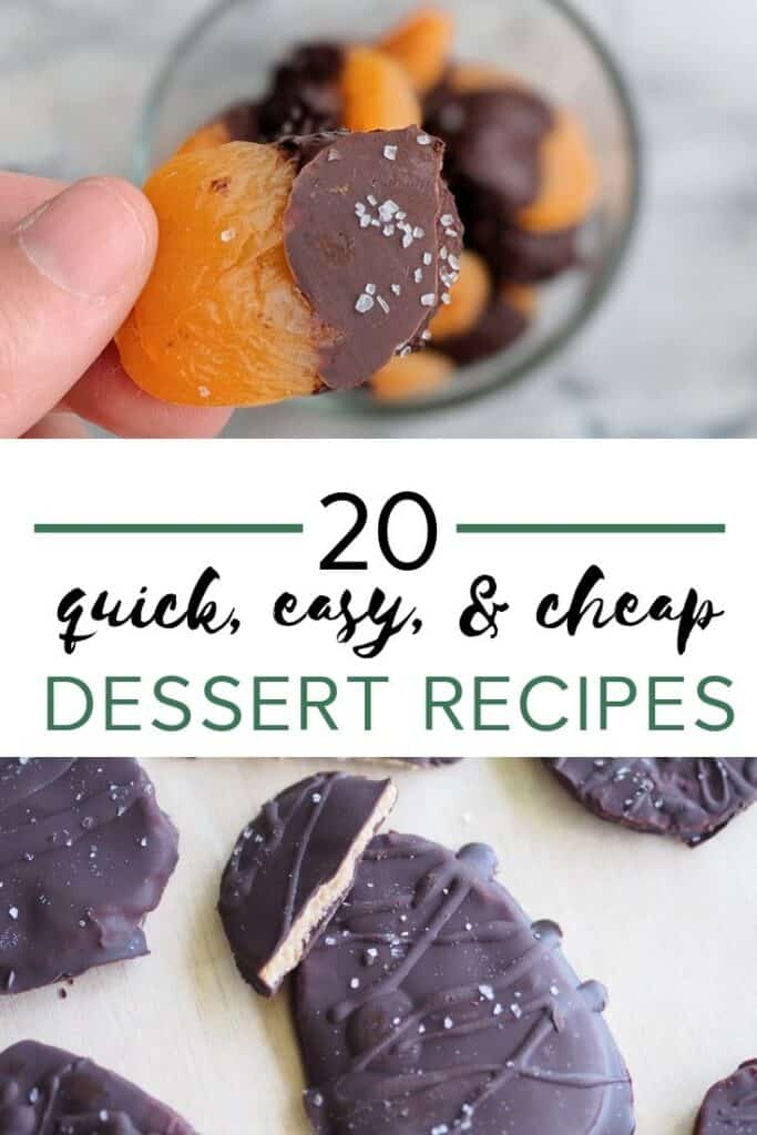 20 quick, easy, and healthy cheap dessert recipes #cheapdessertrecipes #healthydessertrecipes #nobakedessert #glutenfreedessertrecipes