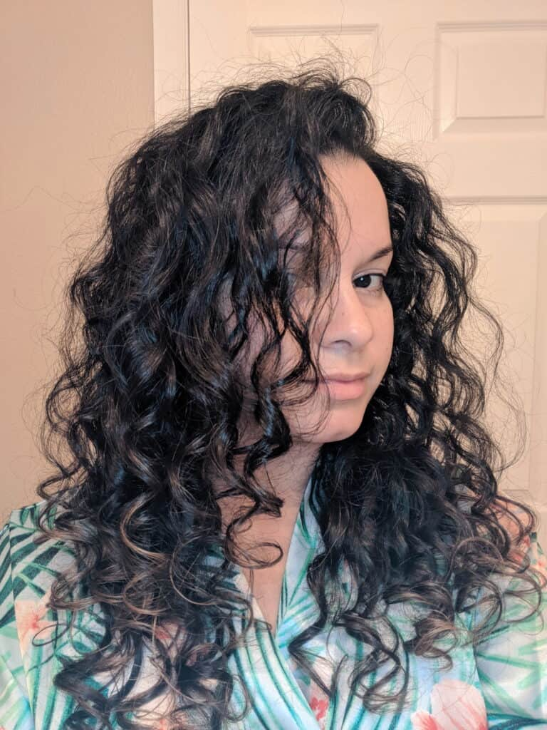 wash day 2c curly hair