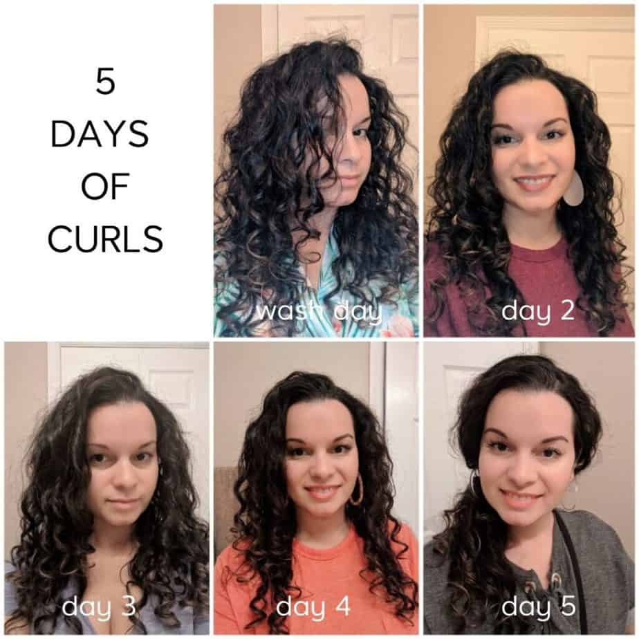 Daily Curly Hair Routine Throughout The Week A Week Of Curls