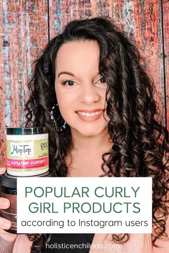popular curly girl products according to Instagram users