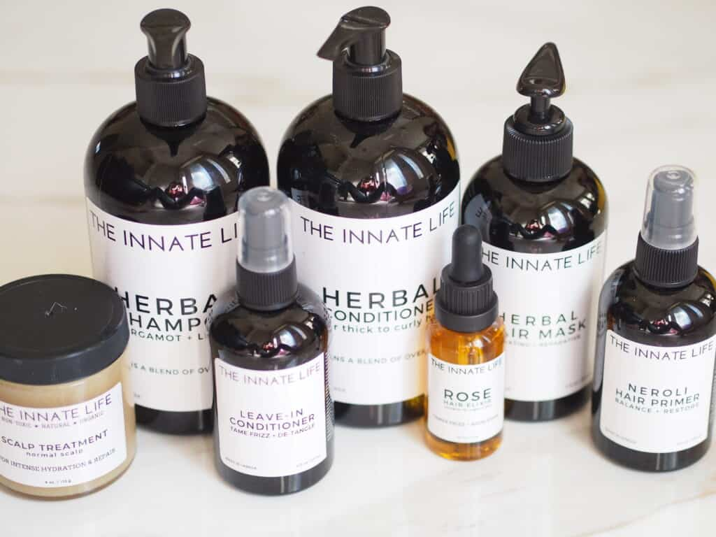 The Innate Life organic curly hair products