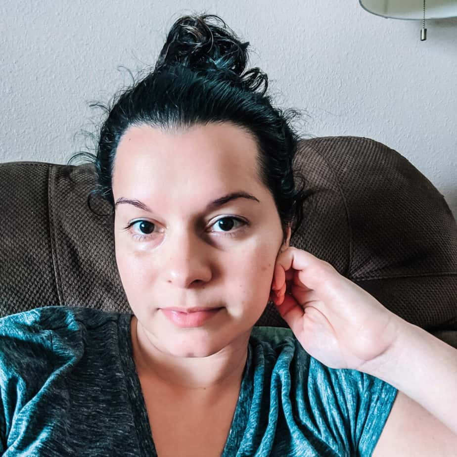 putting hair up following curly girl method