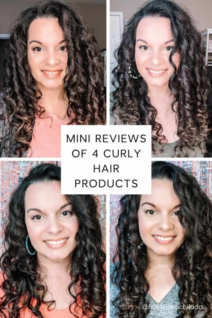 mini review of four curly hair products