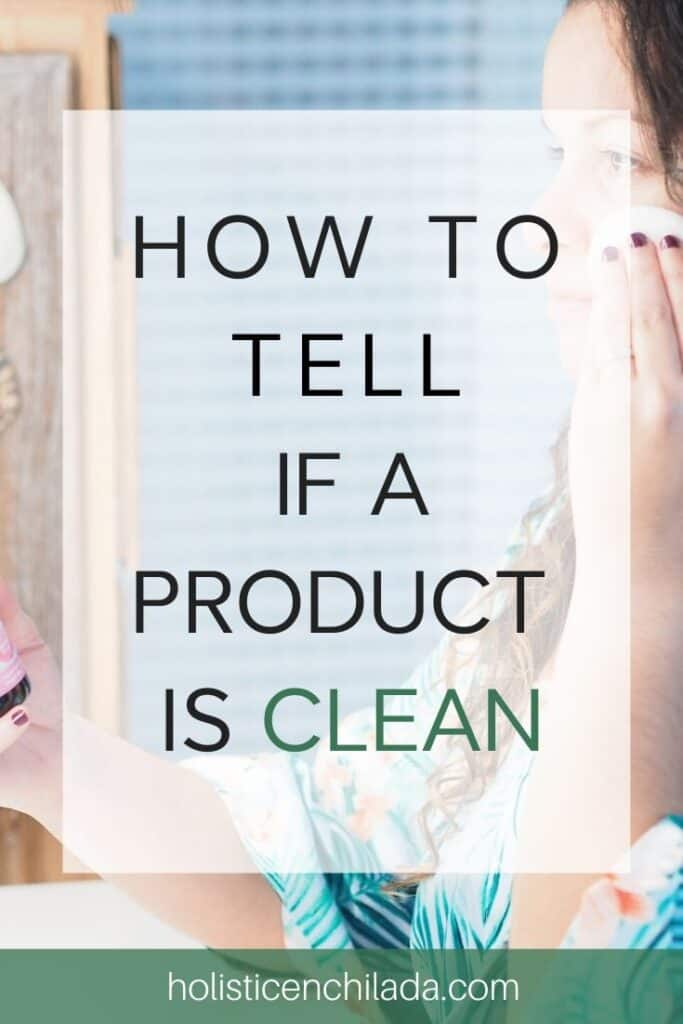 How to tell if a product is clean pin