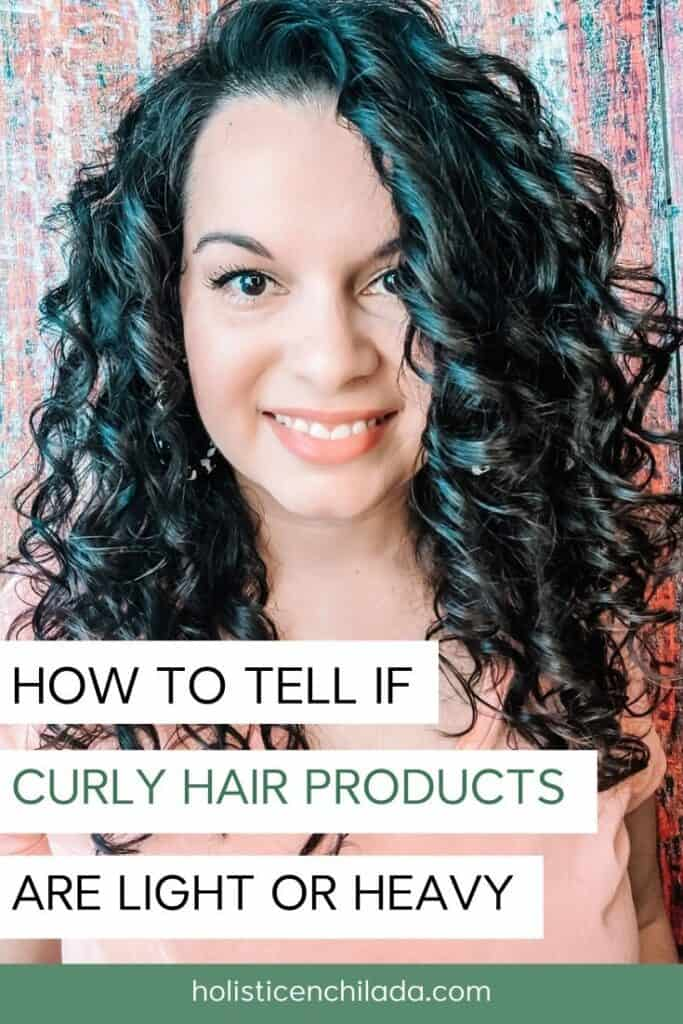 how to tell if curly hair products are light or heavy