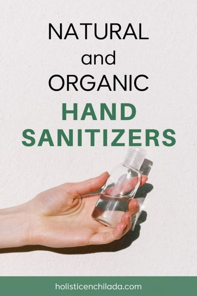 organic and natural hand sanitizers