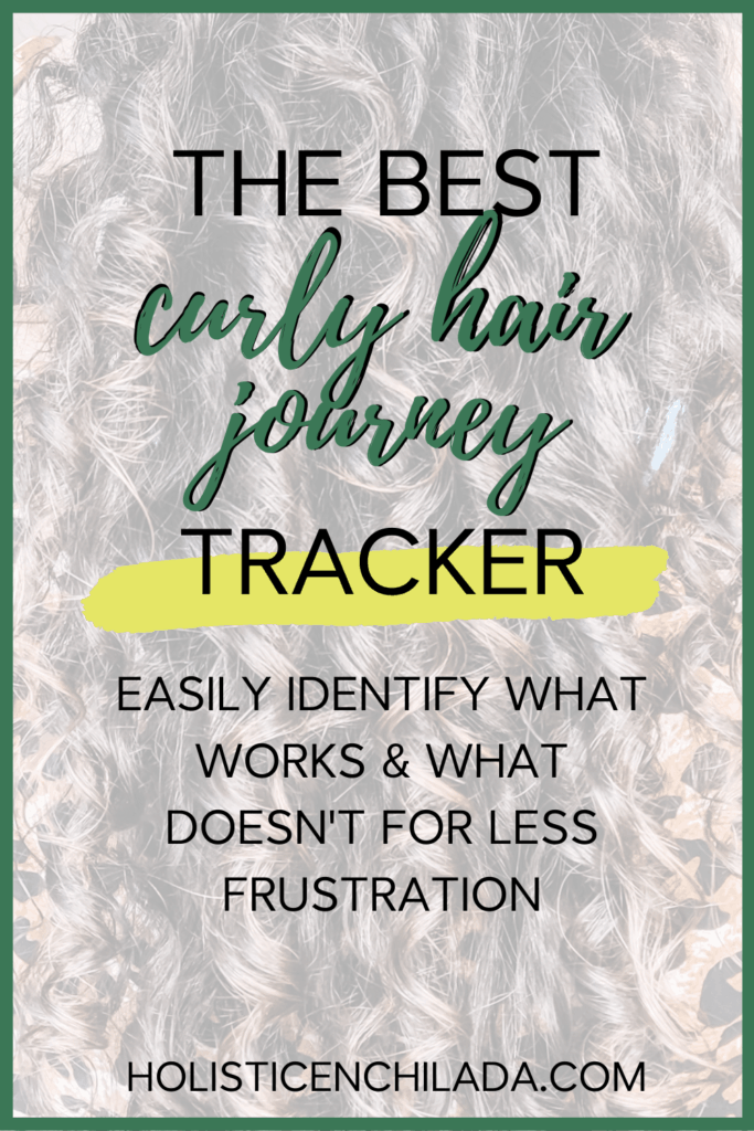 curly hair tracker and printable for your curly hair journey