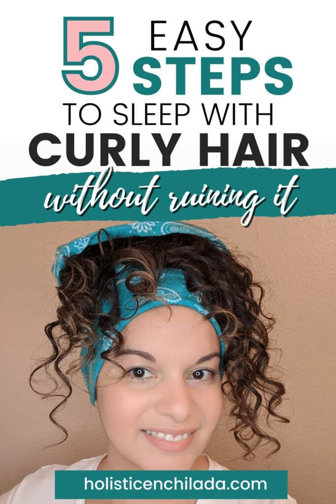 Five easy steps to sleep with curly hair