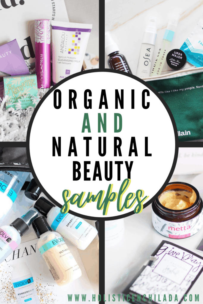 Organic, natural, and green beauty samples