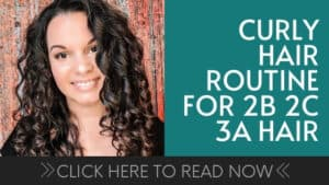 curly girl method routine for fine 2b 2c 3a hair