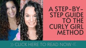 step by step guide to the curly girl method