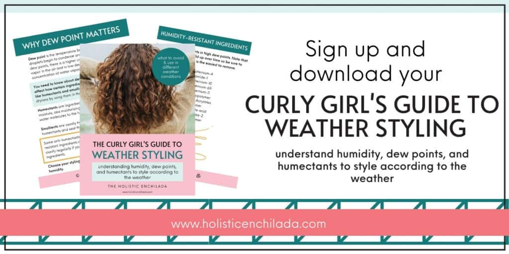 Curly Girl guide to weather styling downloadable