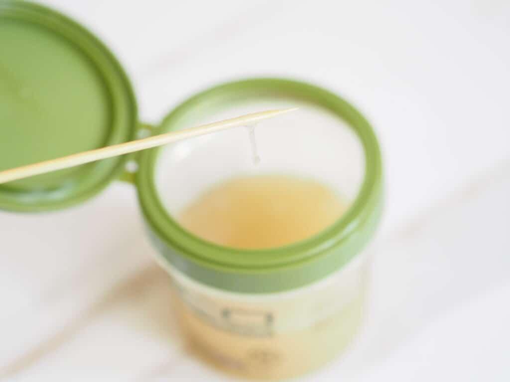 diy flaxseed gel texture shot