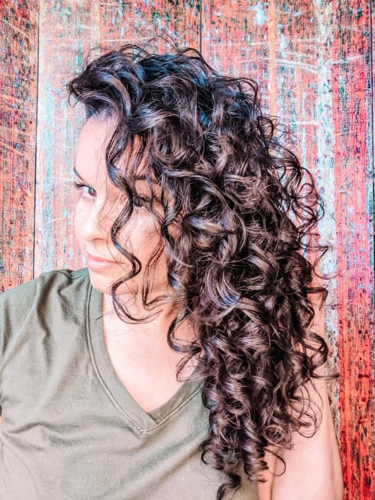 EVOLVh SmartCurl styling results 2c curly hair