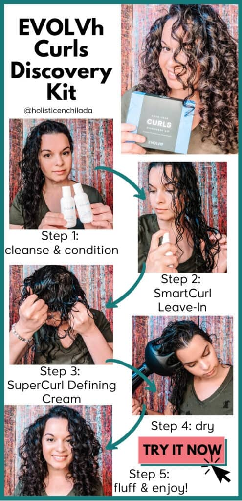 how to use the EVOLVh Curls Discovery Kit