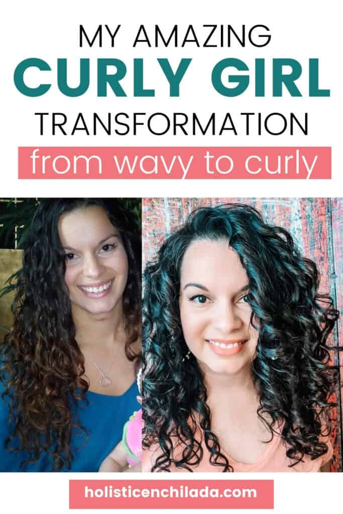 Delilah Orpi's curly girl transformation from wavy to curly hair