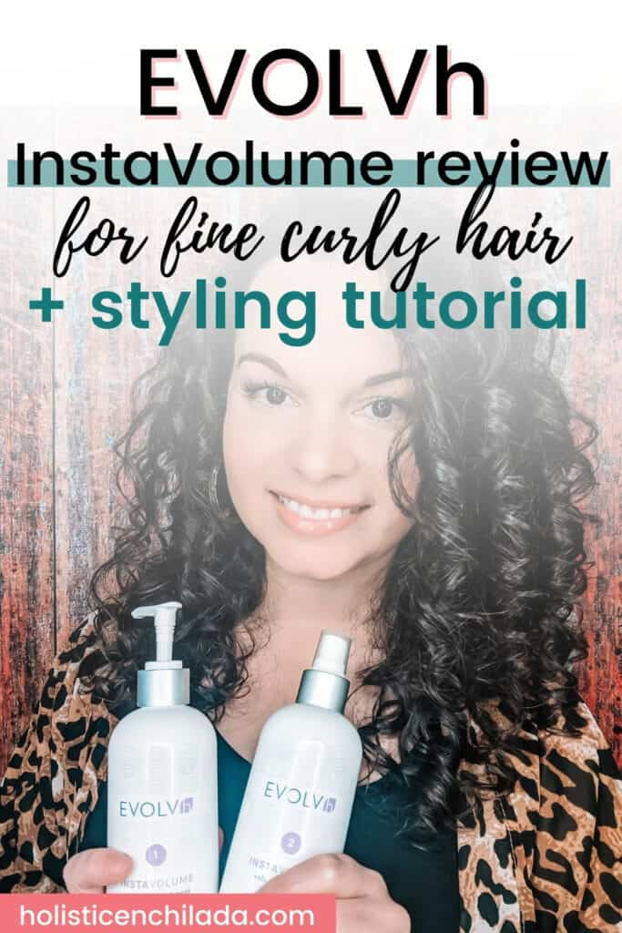 EVOLVh InstaVolume review for fine curly hair pin