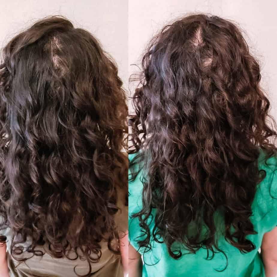 low density curly hair