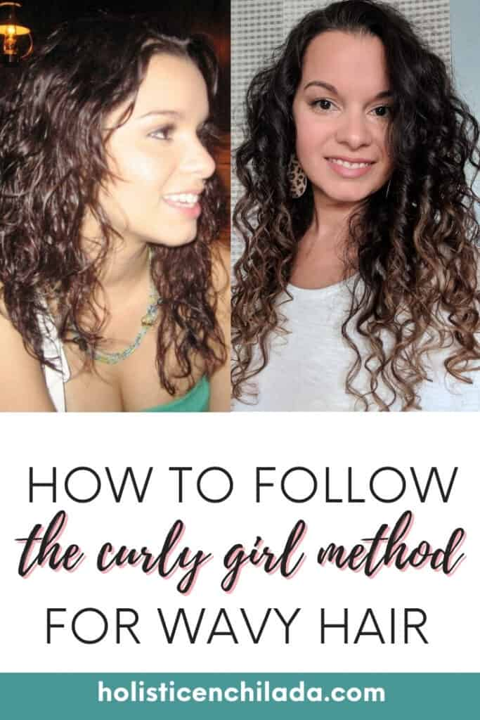 how to follow the curly girl method pin