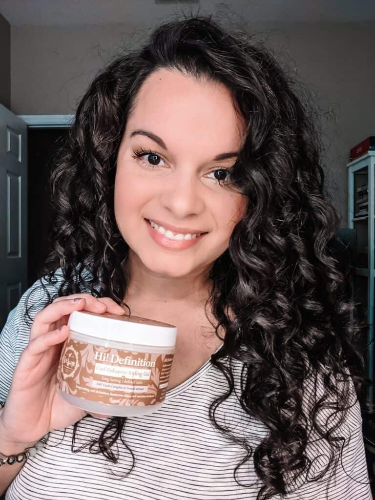 glycerin free gel for curly hair in the winter