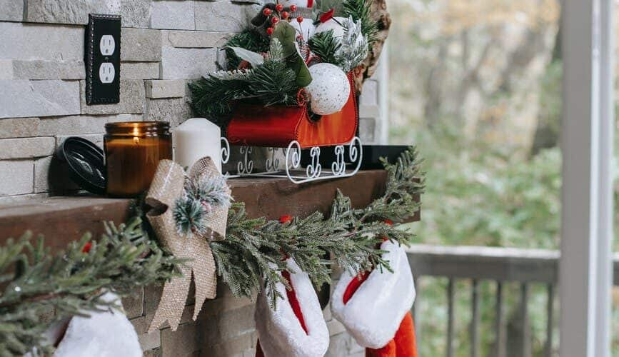 stockings on a mantle - natural stocking stuffers under 20