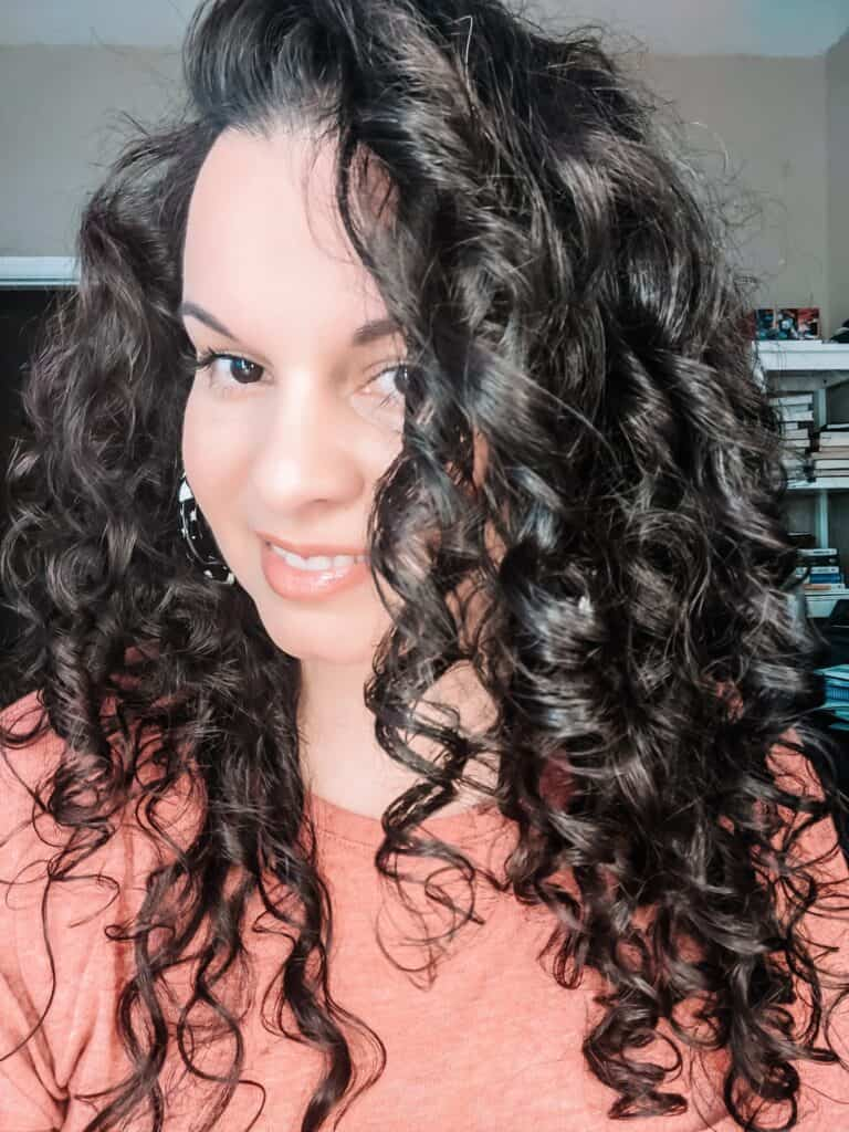 curly hair dried after plopping hair