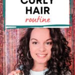 Zero Waste Curly Hair Routine pin image
