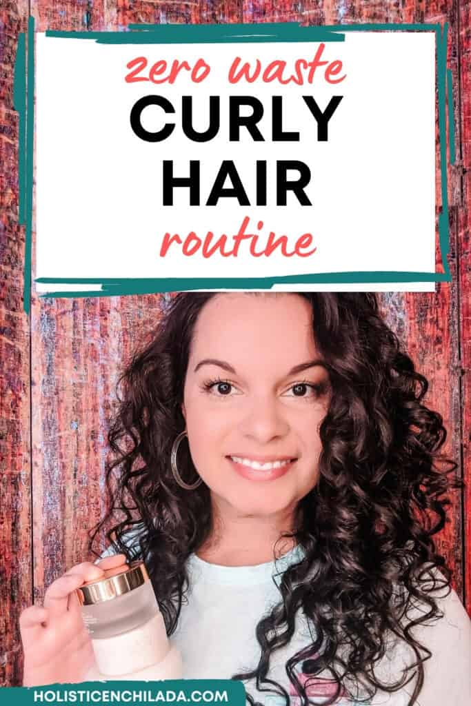zero waste curly hair routine pin image