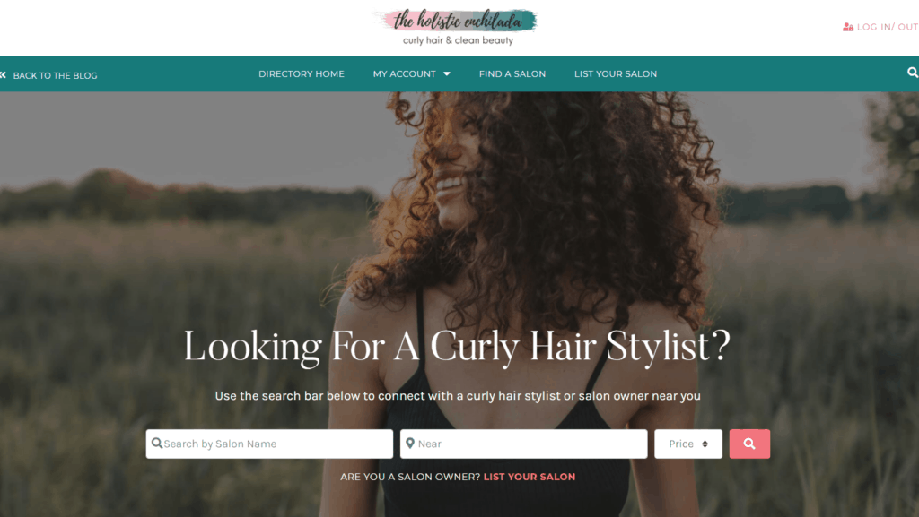 Looking for a curly hair stylist with search options