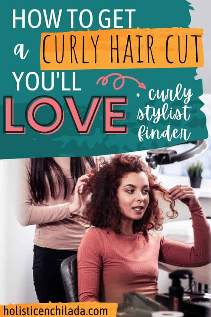 how to get a curly hair cut you'll love pin image