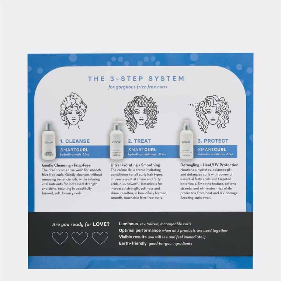 how to use the EVOLVh Healthy Curls Trio instructions