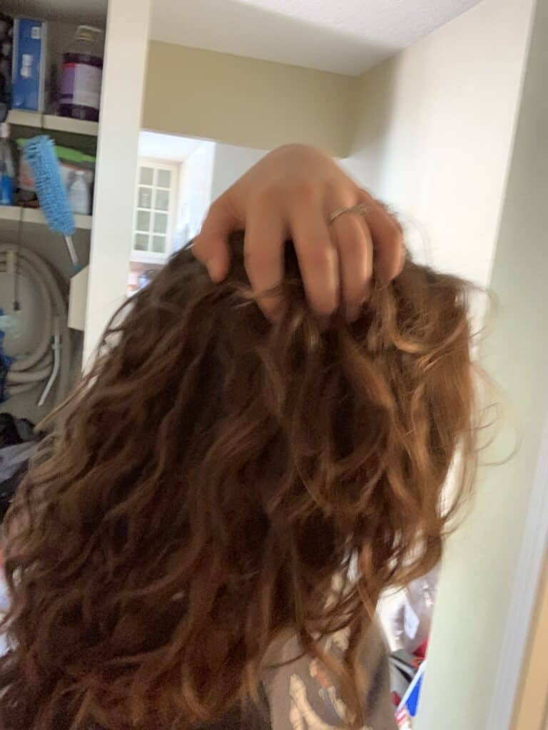 wavy hair in transition