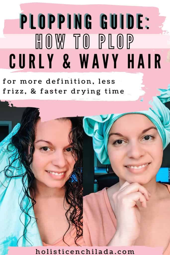 how to plop curly and wavy hair for more definition and less frizz
