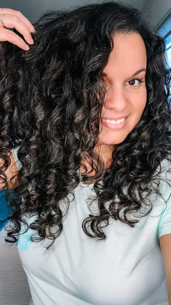 behairful brush results on fine curly hair