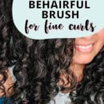 review of the behairful brush for fine curly hair