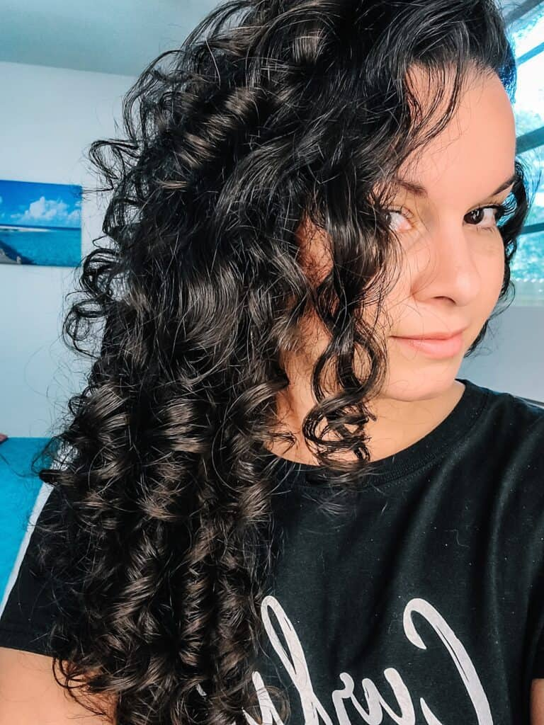 results using the EVOLVh DreamGel on fine curly hair