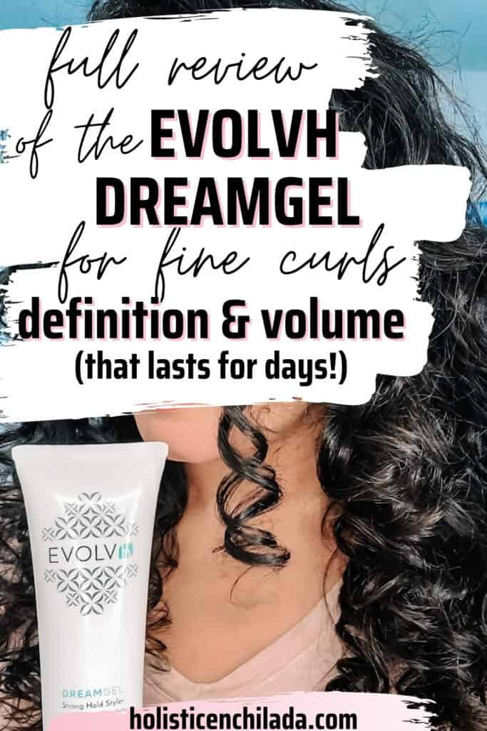 full review of the EVOLVh DreamGel for fine curly hair